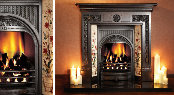 Combination Tiled Insert Fireplaces